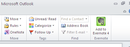 evernote on outlook