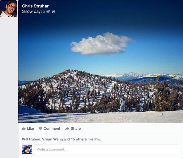 new facebook newsfeed shared photo 1